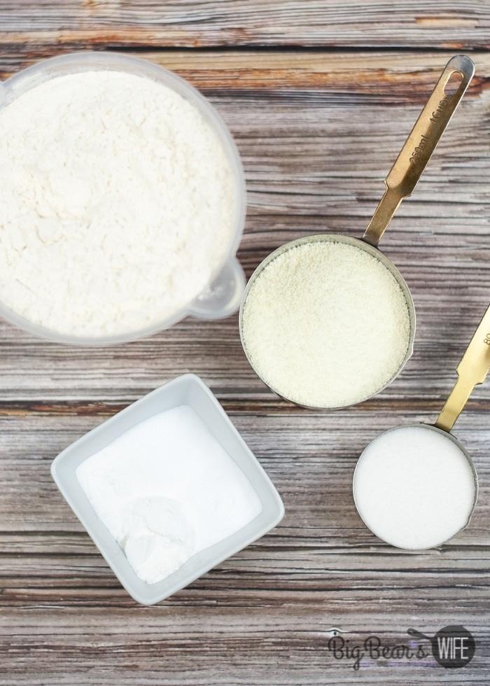 ingredients for HOMEMADE PANCAKE MIX