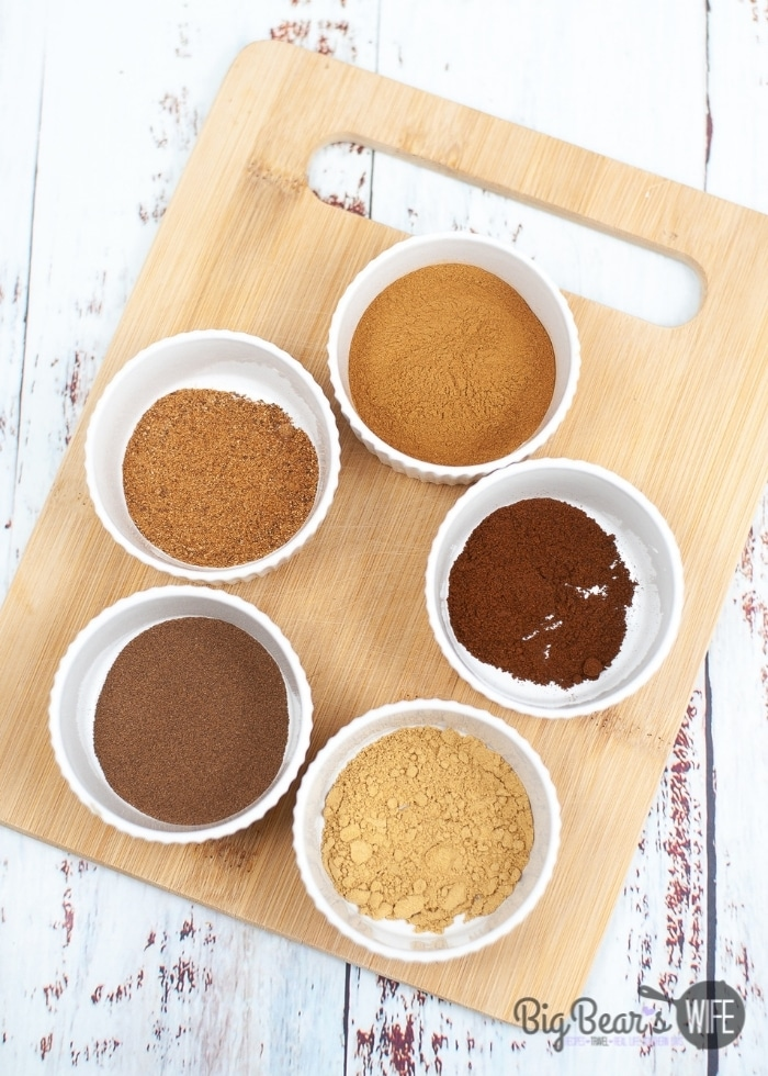 ingredients for HOMEMADE PUMPKIN PIE SPICE